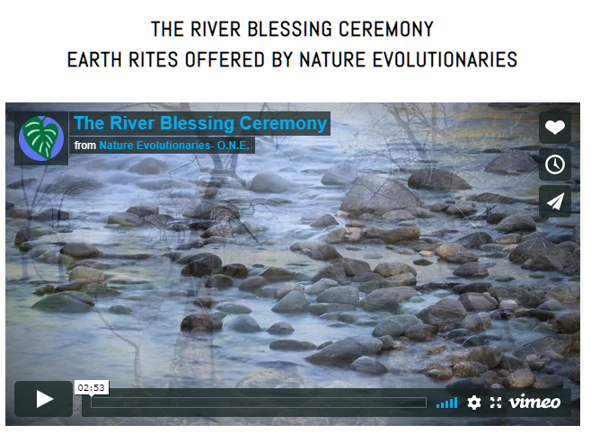 The River Blessing Ceremony by Nature Evolutionaries