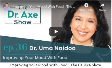 Dr, Uma Naidoo | Dr. Axe | Improve Your Mood with Food
