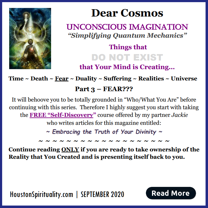Dear Cosmos, Unconscious Imagination by David LE