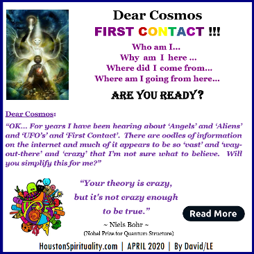 First Contact | Dear Cosmos | David/LE | HSM April 2020