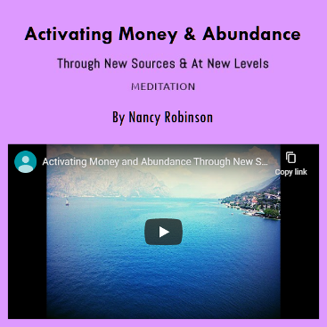 Activating Money & Abundance by Nancy Robinson