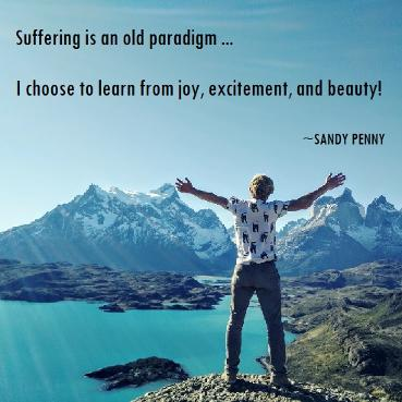 Suffering is an old paradigm, Sandy Penny soul candy