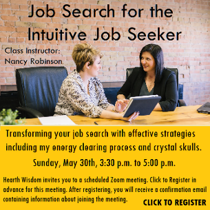 Job Search Class for the Intuitive Job Seeker by Nancy Robinson