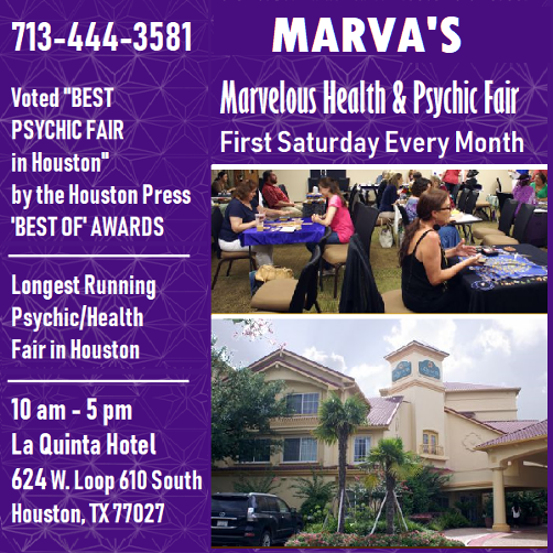 Marva's Psychic & Holistic Fair - First Saturday Monthly
