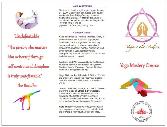 Yoga Lola Upcoming Classes and Teacher Training