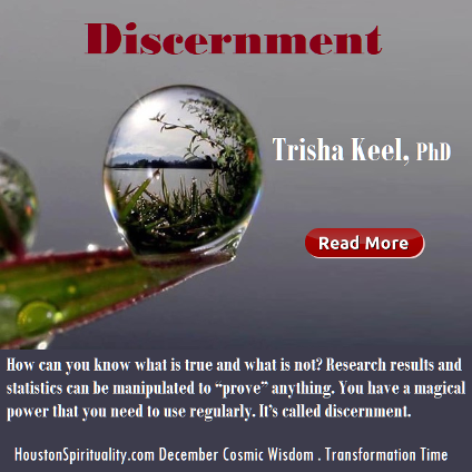Discernment by Trisha Keel. Dec. HSM Cosmic Wisdom