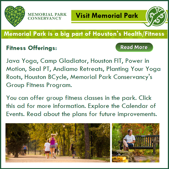 Fitness at Memorial Park. The Memorial Park Conservancy info.