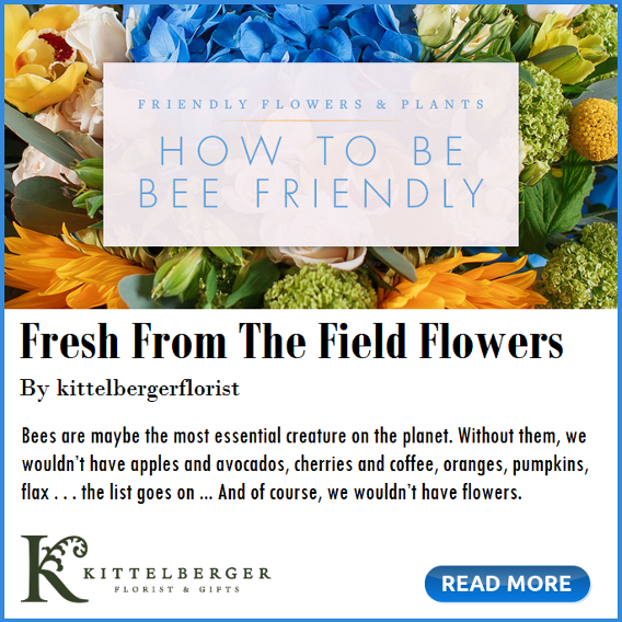 How to BEE Friendly fresh from the field flowers