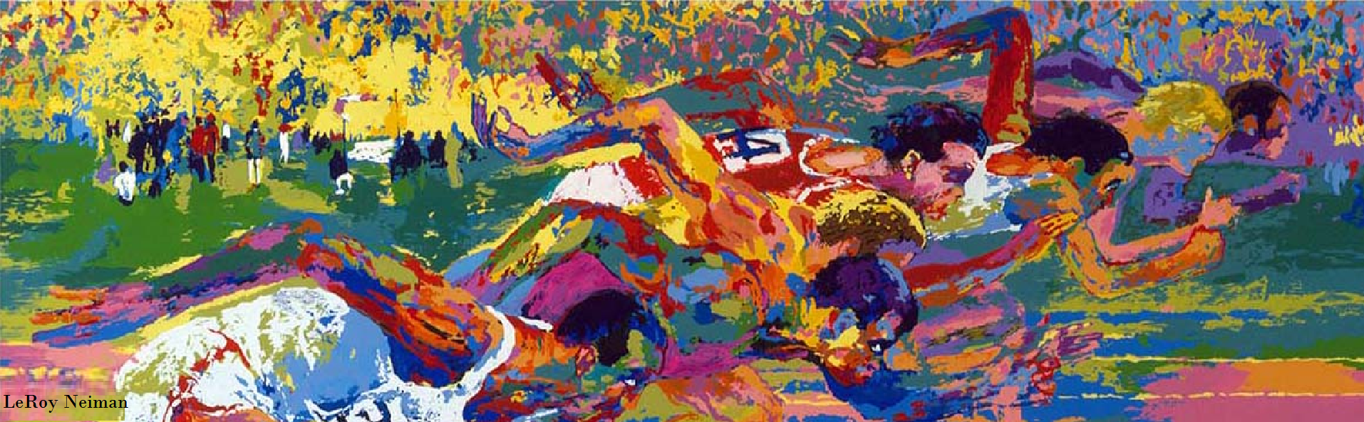 Leroy Neiman track and field race