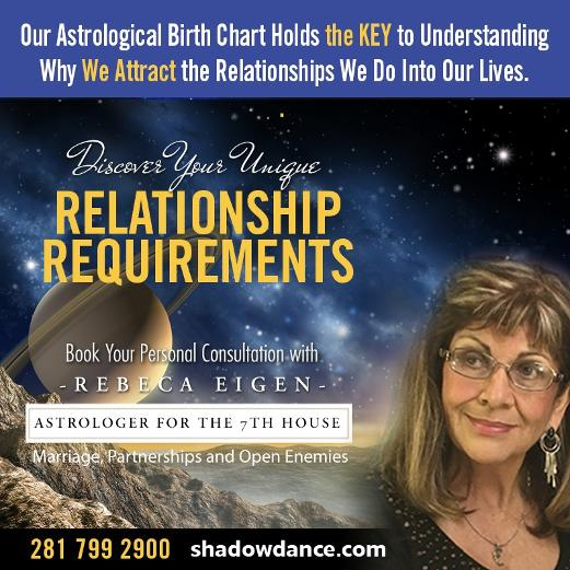 Book your personal consultation with Rebeca Eigen. Relationship Requirements through Astrology.