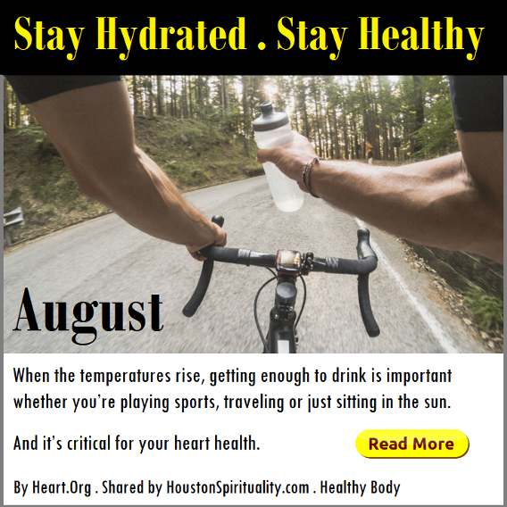 Stay Hydrated, Stay Healthy. Heart.org