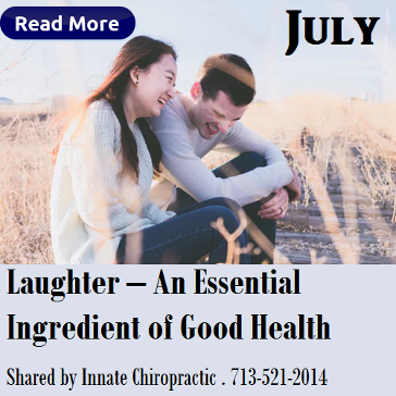 Laughter, An Essential Ingredient of Good Health. Innate Chiropractic. Healthy Body