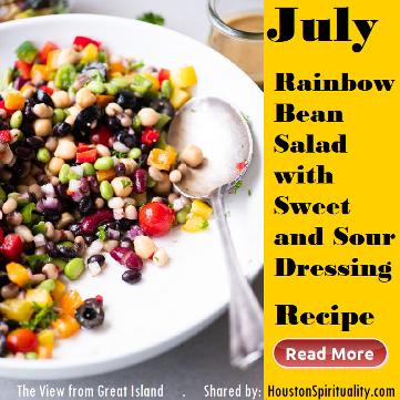 Rainbow Bean Salad with Sweet and Sour Dressing. Healthy Food