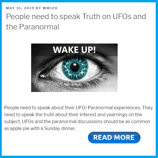 People need to speak the truth about UFOs by MWiz TruthSeeker Forum