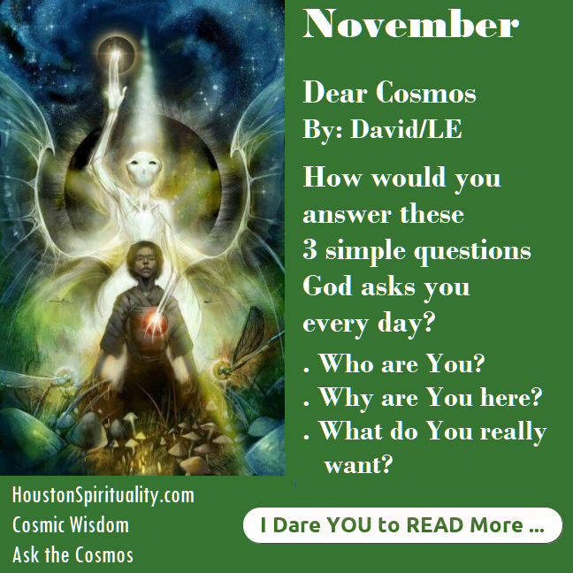 Dear Cosmos November David LE 3 Simple Questions