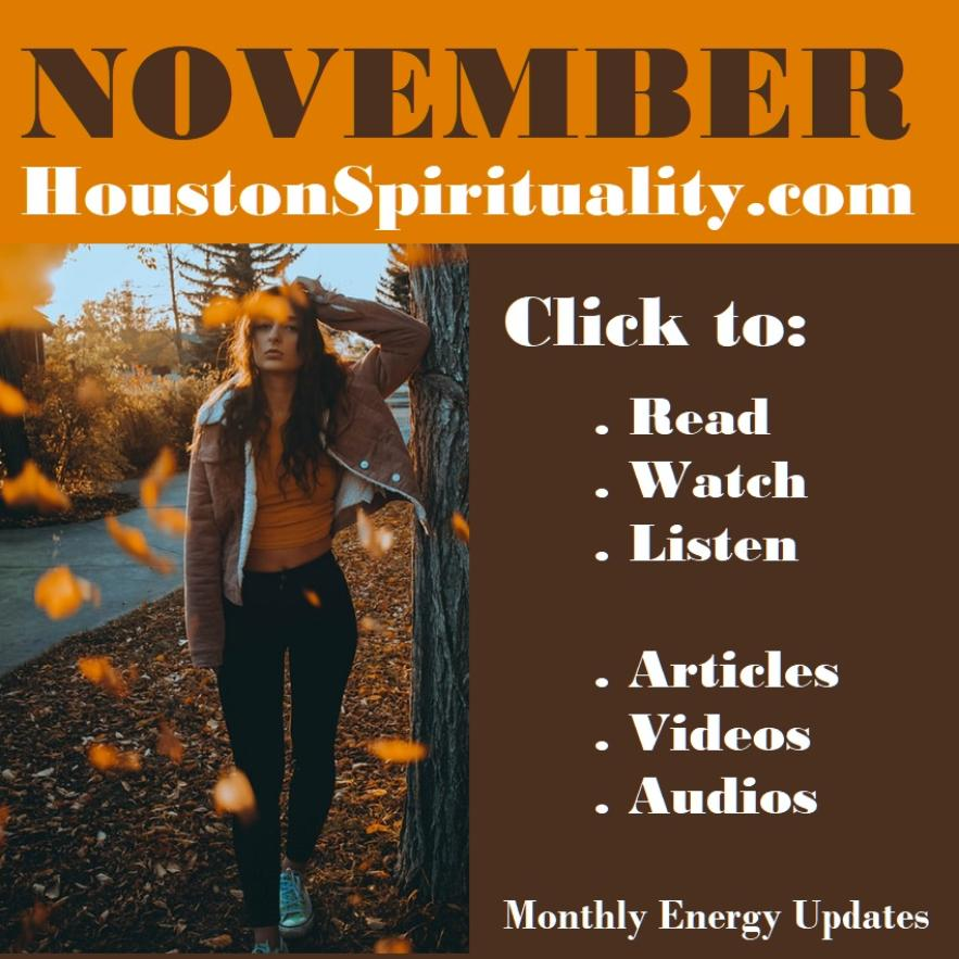 November HoustonSpirituality.com Magazine Monthly Features cover link