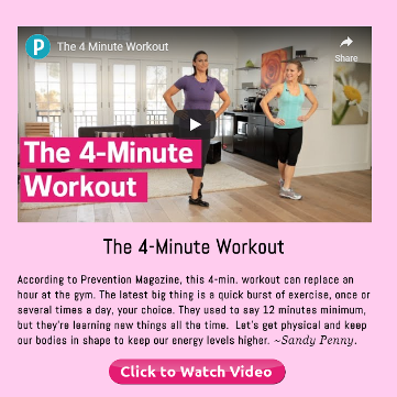 The 4-Minute Workout, click to read and listen