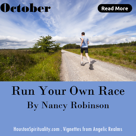 Run Your Own Race by Nancy Robinson, Vignettes from Angelic Realms, HSM October