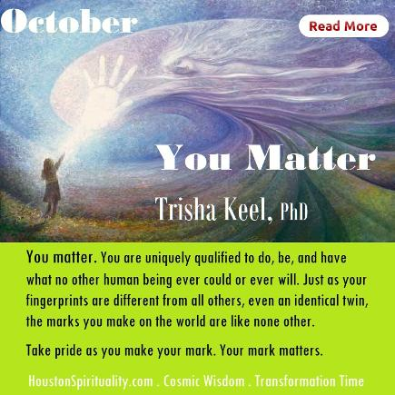 You Matter by Trisha Keel, Transformation Time, HSM October
