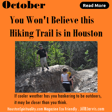 You won't believe this hicking trail is in houston. Memorial Park.  HSM Eco Friendly October