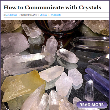 How to communicate with crystals. by Lea Schultz, Discover Samuel