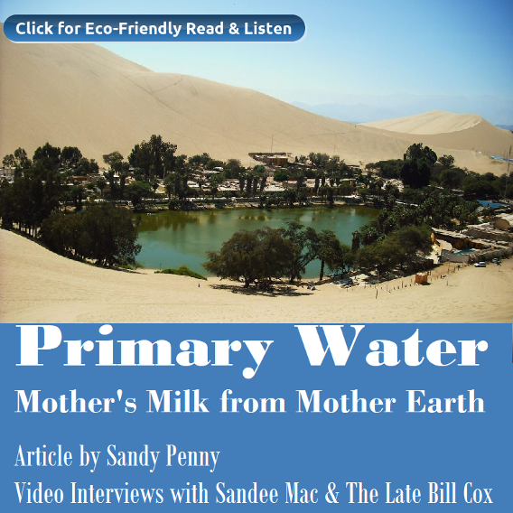 Primary Water, Mother's Milk from Mother Earth. Sandy Penny. Sandee Mac. Bill Cox