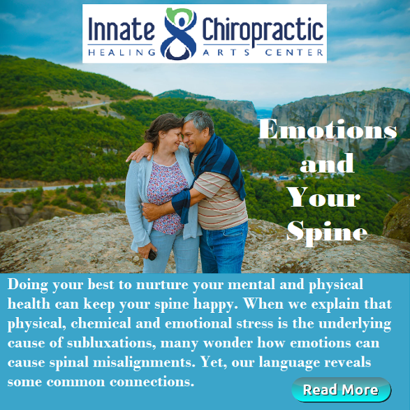 Emotions and Your Spine, Innate Chiropractic, Dr. Jackie St.Cyr. April