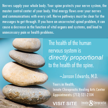 Innate Chiropractic. Healthy Spine Hints. Healthy Body. Houston Spirituality. 2020 January