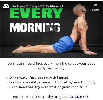 Healthy Body. Do these 3 things every morning. Houston Spirituality 2020 January