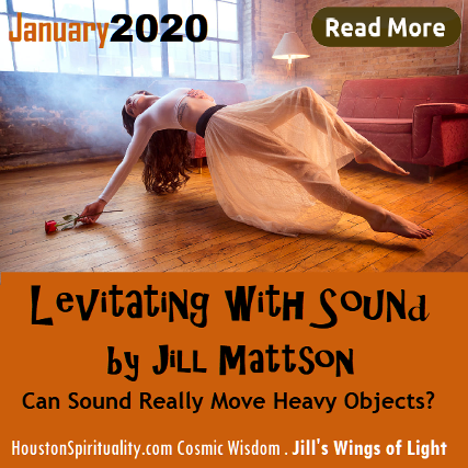 Levitating with Sound by Jill Mattson, Wings of Light. HSM Cosmic Wisdom 2020