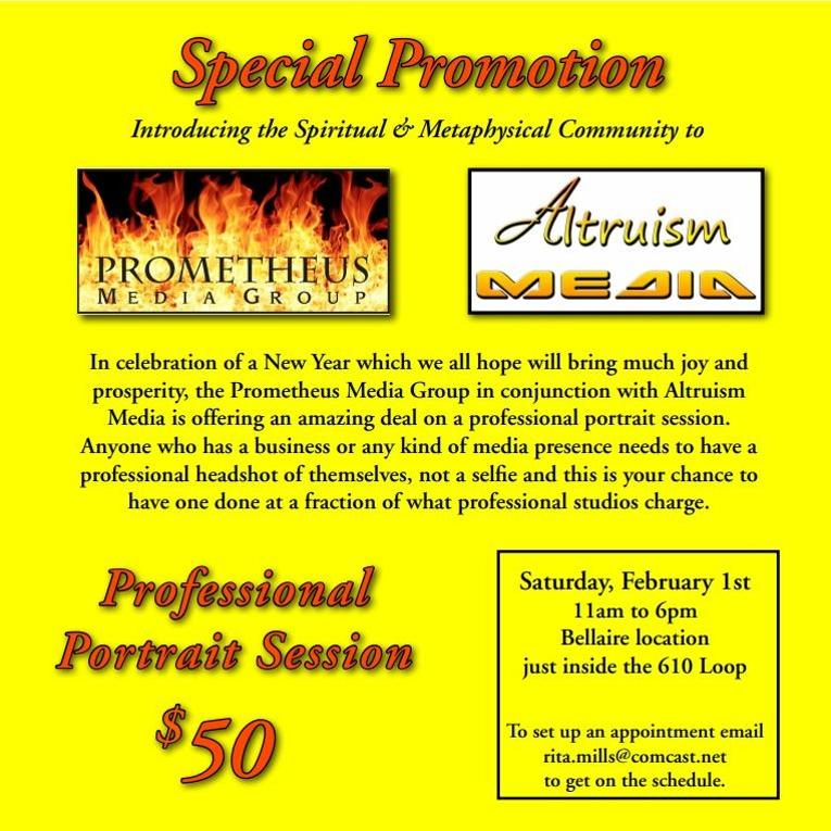 Special Photographic Promotion