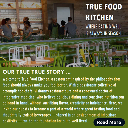 Our True Story. True Food Kitchen. Houston Spirituality