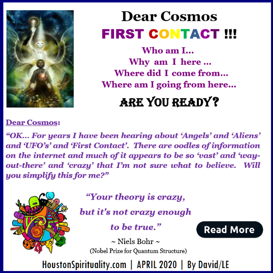 Dear Cosmos. First Contact. David/LE