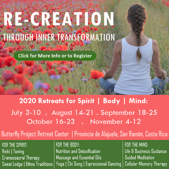 Re-Creation through Inner Transformation Retreat for Spirit, Body, Mind, July 3-10, Costa Rica