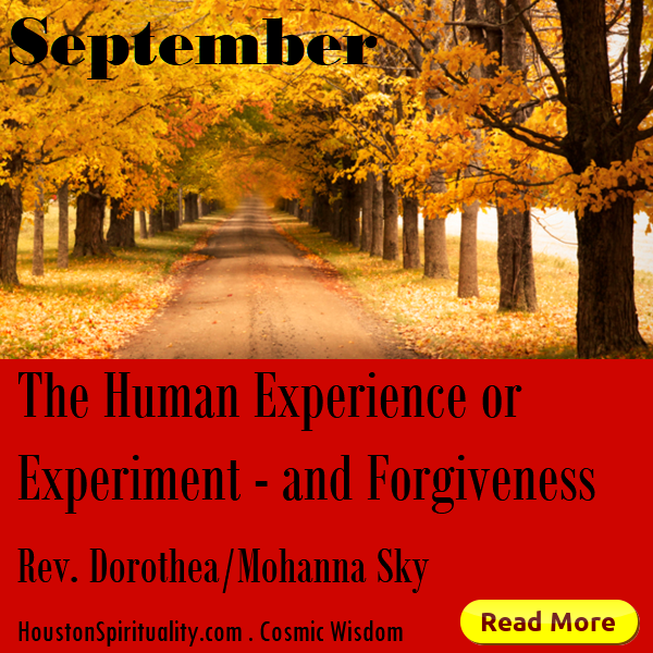 The Human Experience or Experiment and Forgivenes by Rev. Dorothea/Mohanna Sky