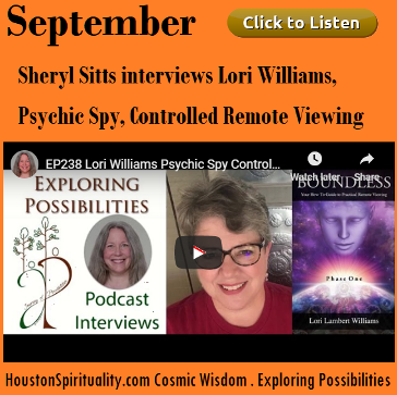 Sheryl Sitts interviews Lori Williams, Psychic Spy, Controlled Remote Viewing
