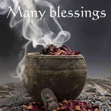 Many blessings with incense