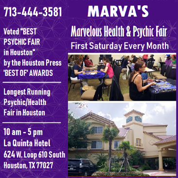 Marva's Health & Psychic Fair. First Saturday Every Month.
