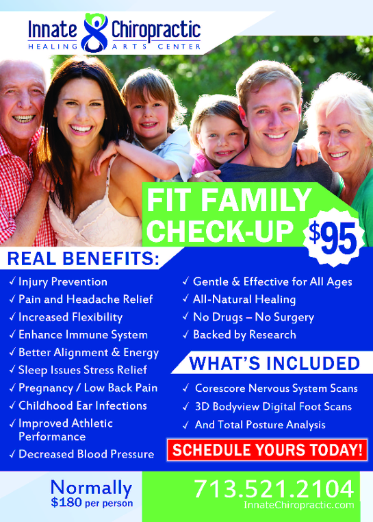 Innate Chiropractic Fit Family Check-up benefits