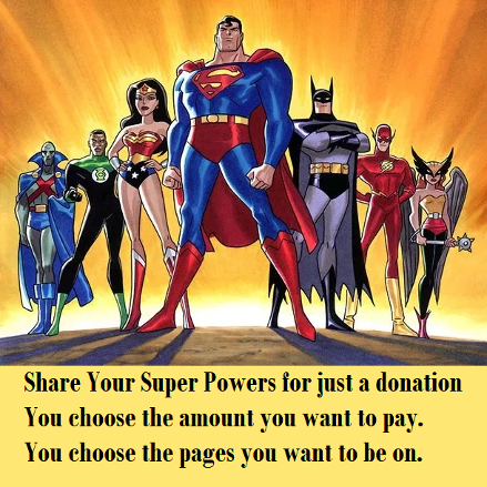 Share Your Super Power for just a donation.