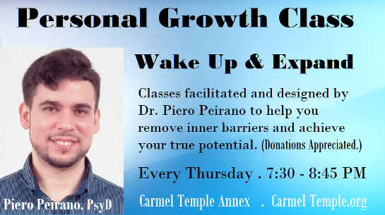 Personal Growth Class. Wake up and expand. Piero Pierano. click for info.