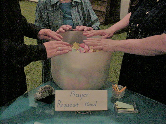The Prayer and Healing Bowl at Carmel Temple. Click to read more.