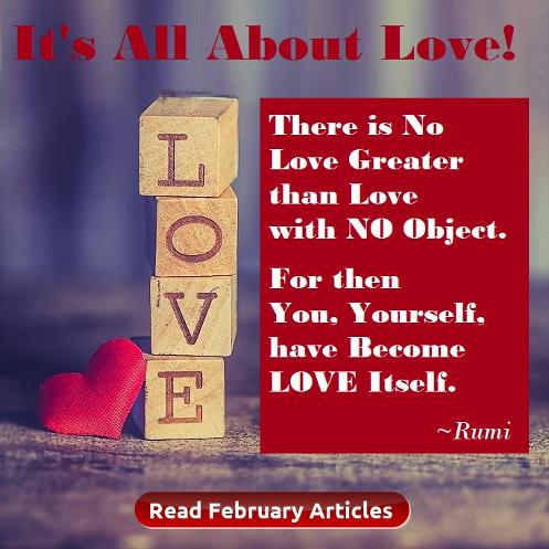 February Articles, It's All About Love! Houston Spirituality Mag 2019