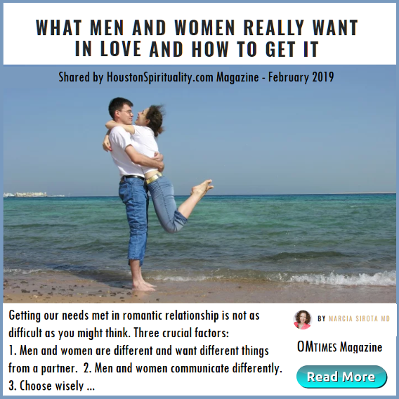What Men and Women Really Want in Love and How to Get It. OM Times Mag