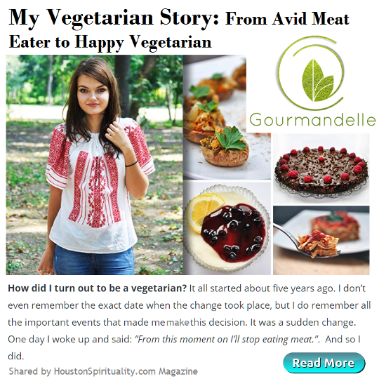 My Vegetarian Story: From Avid Meat Eater to Happy Vegetarian. Gourmandelle