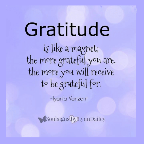 Gratitude is like a magnet. Iyanla Vanzant