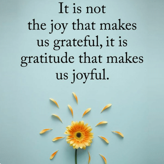 gratitude makes us joyful meme