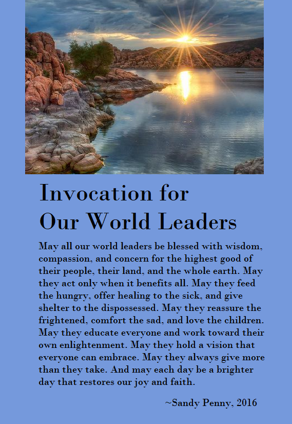 Invocation for Our World Leaders
