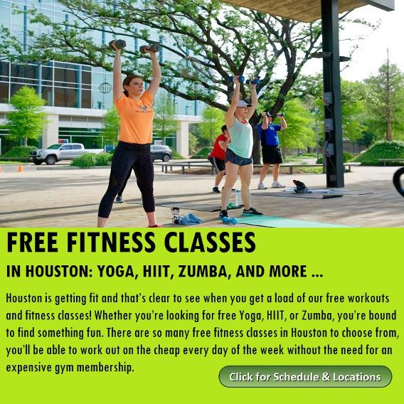 Free Houston Fitness Classes, yoga, zumba and more