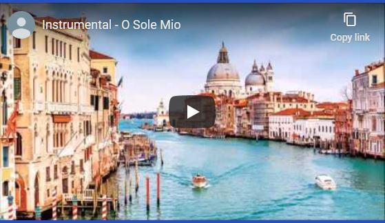 Instrumental O Sole Mio for plant growth